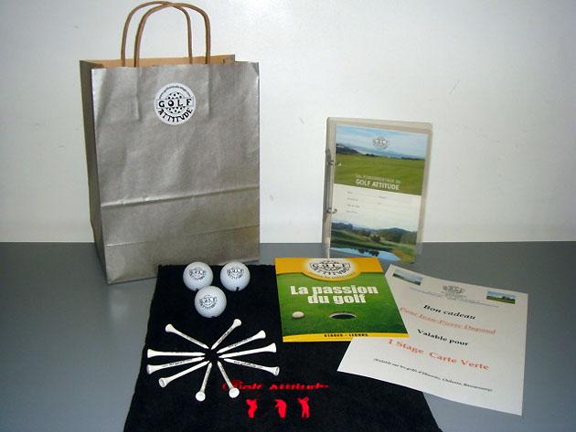 Pack cadeau golf attitude