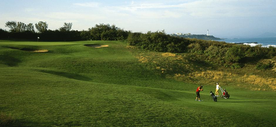 parcours de golf chiberta : links le long de l'océan - plage de la madrague