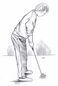 putting : position du corps